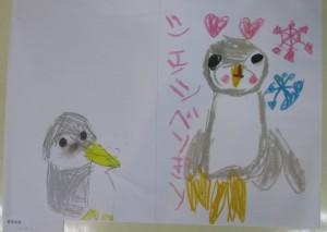 毛利友美ちゃん ジェンツーペンギン ペンギンの中でジェンツーペンギンだけが足が黄色なんだよ。